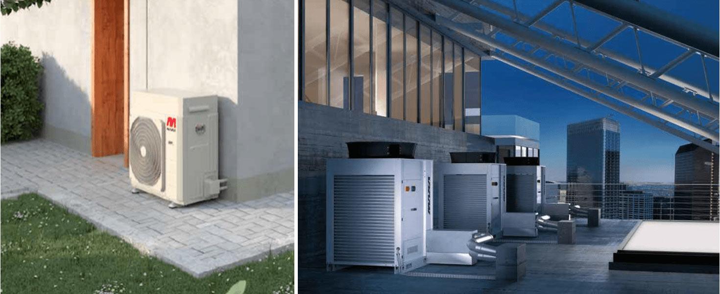 ısı pompası büyük kapasite hava kaynaklı inverter ısı pompası